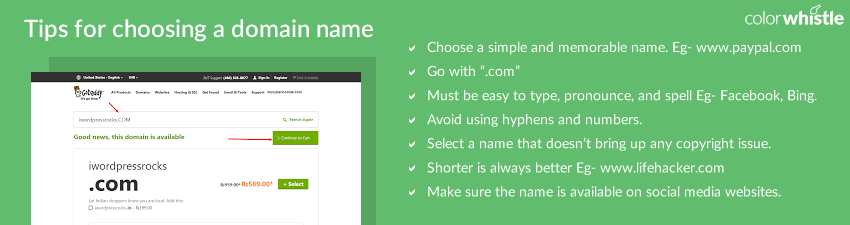 tips for choosing a domain name