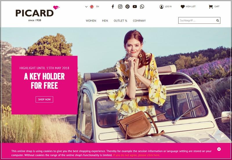ecommerce fashion website design ideas - picard