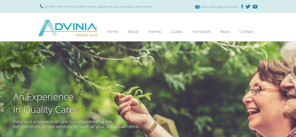 Advinia-Health-Care-Nursing-Website