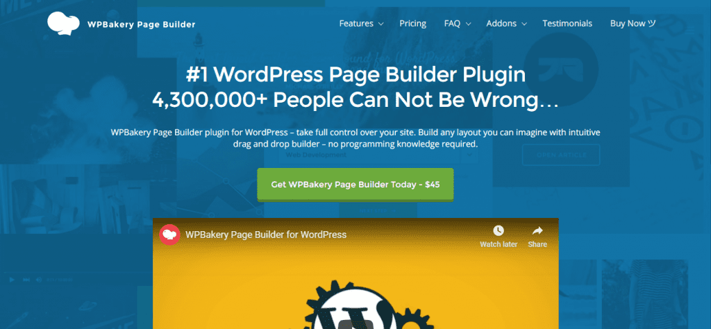 WordPress Bakery Page Builder