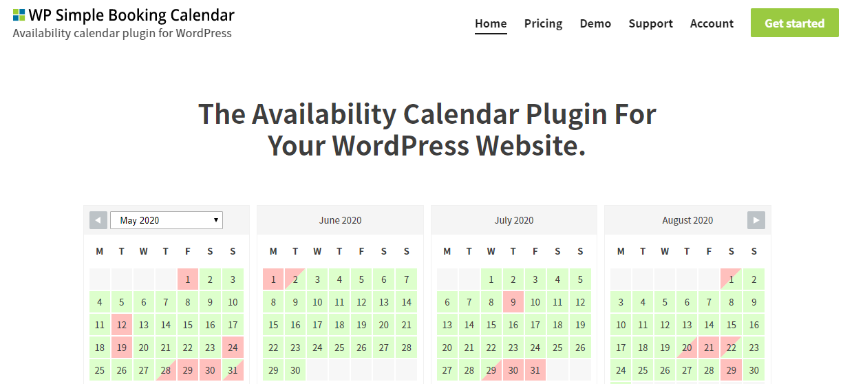 WP Simple Booking Calendar - Best Appointment Booking Plugins for WordPress1