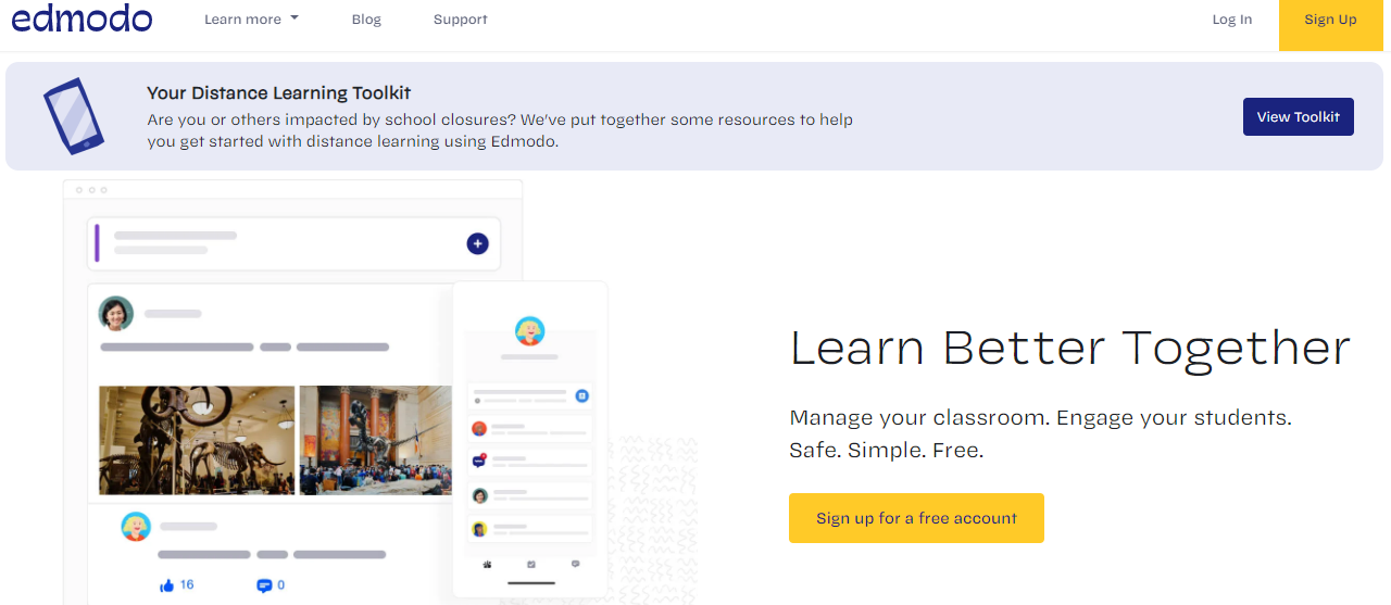 edmodo -Top Interactive ELearning Web Apps for Online Classroom
