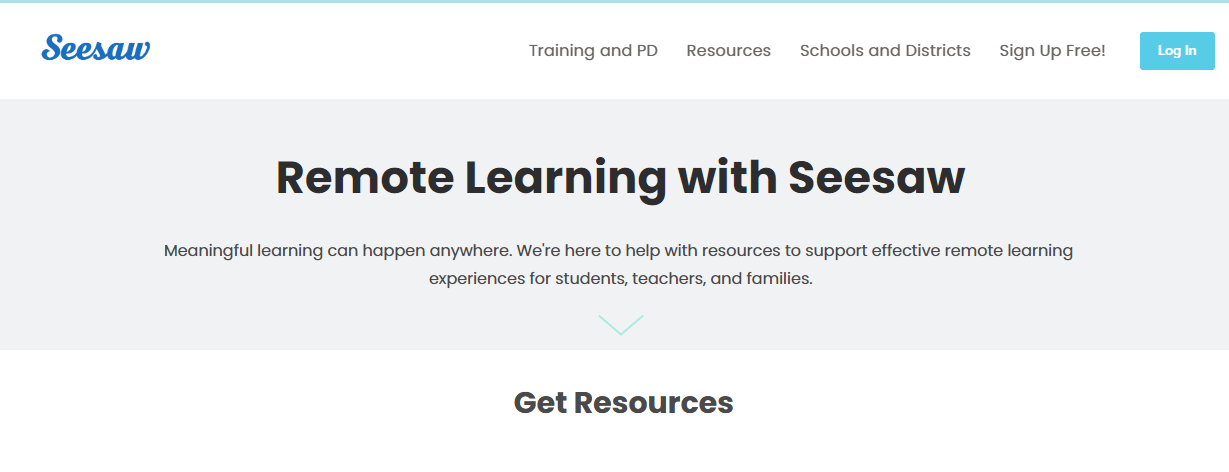 seesaw -Top Interactive ELearning Web Apps for Online Classroom
