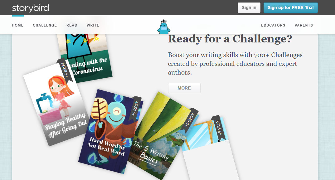 storybird -Top Interactive ELearning Web Apps for Online Classroom
