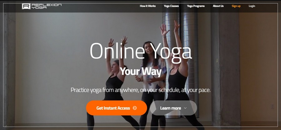 ReflexionYoga Membership Website Inspiration