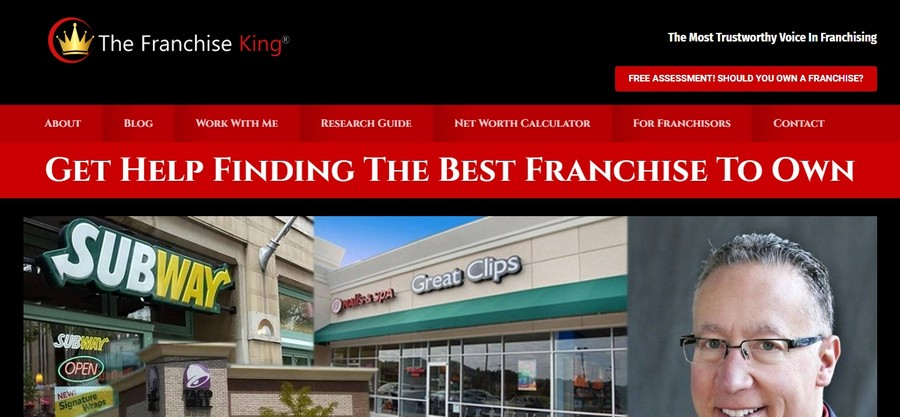 The franchise king - Small Business Website Design Ideas 10
