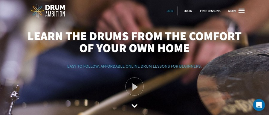 Drum Ambition - Small Business Website Design Ideas Music 1