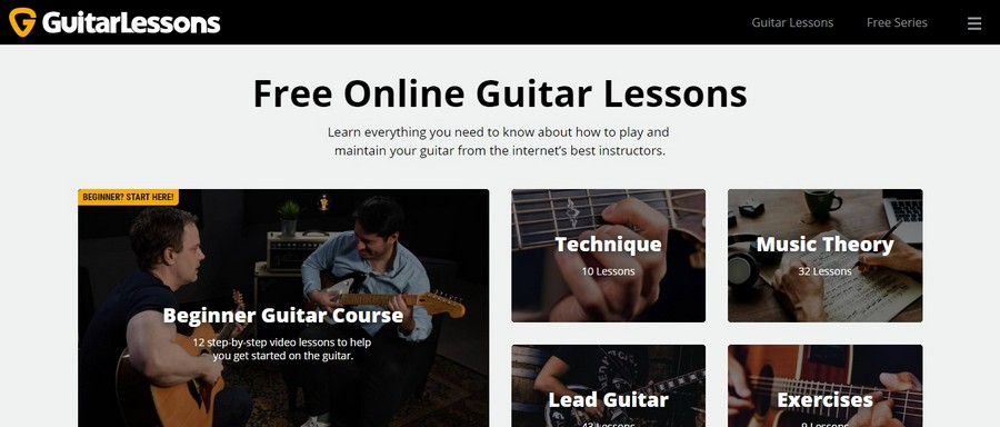 GuitarLessons - Small Business Website Design Ideas Music 2