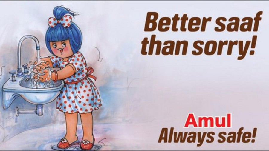 Amul - covid 19 awareness advertisements