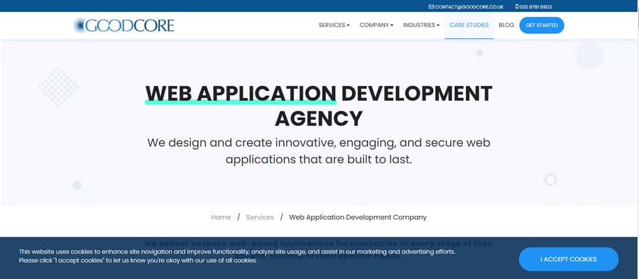 Web Application Development Companies GoodCore
